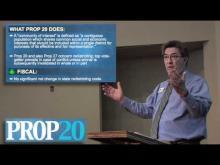 Rancho Cordova Mayor Ken Cooley reviews Proposition 20 -- Ken Cooley