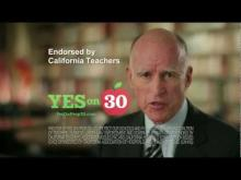 Governor Brown with Students -- Yes on 30