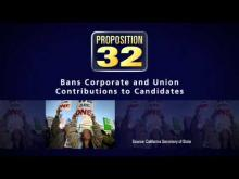 CA Prop 32 - Special Interests -- California Future Fund
