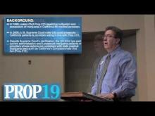 Rancho Cordova Mayor Ken Cooley reviews Proposition 19 -- Ken Cooley