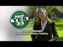 Proposition 33 Protects Military Families and Veterans -- YES Prop. 33