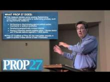 Rancho Cordova Mayor Ken Cooley reviews Proposition 27 -- Ken Cooley